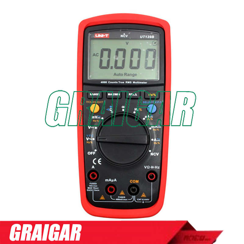ФОТО True RMS Digital Multimeters UNI-T UT139B AC DC Voltage and Current Auto Range Handheld multimeter