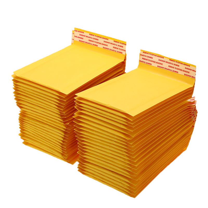 Padded-Envelopes Top-Quality 50pcs/Lot Mailers Office-Supplies Self-Seal Bubble Kraft