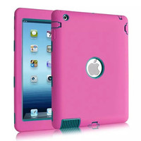 For IPad 2 IPad 3 IPad 4 Case Kids Safe Shockproof Heavy Duty Rubber Hybrid Armor