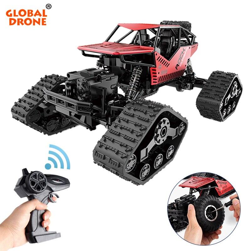 Drone mondial électrique RC voiture roche chenille télécommande jouets changer piste pneu radiocommandé voitures cadeaux jouets pour garçons