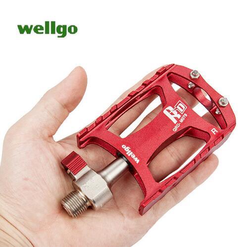2018 Wellgo QRD-M079 Ultra-léger roulement pédale à dégagement rapide pédale vtt VTT vélo pédales pièces de vélo