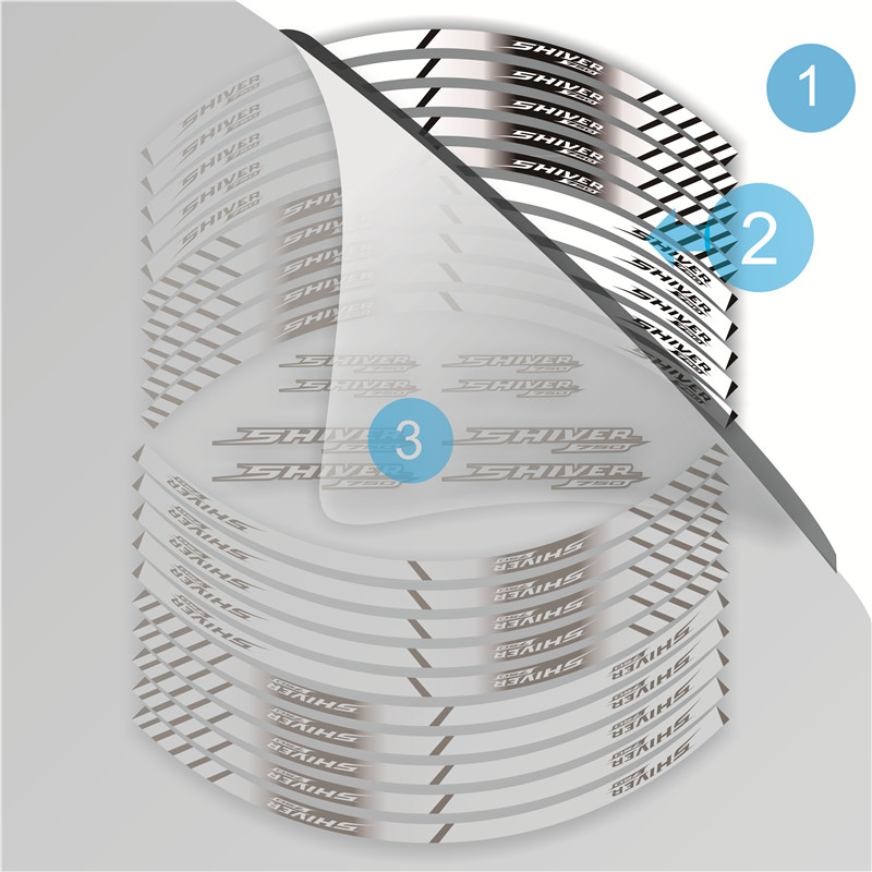 8 x APRILIA SHIVER Wheel Rim Stickers Decals 750 sl750 gt sl 750 Colours