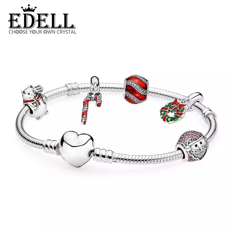 EDELL The 2017 BLACK FRIDAY DEALS 925 Sterling Silver Sparkling Strand Bracelet Women Link Tennis Bracelet Silver Jewelry недорго, оригинальная цена