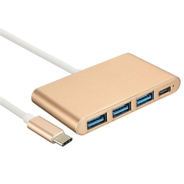 4 Порта OTG USB-КОНЦЕНТРАТОР Сплиттер Типа С USB 3.1 Адаптер концентраторы USB 3.0 Многопортовый Для Macbook Air Ноутбук Планшетный ПК Портативный