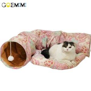 Image 2 - Складной туннель для кошек, для использования в помещении и на улице, тренировочная игрушка для кошек, кроликов, животных, туннелей для кошек, кроватей и туннелей