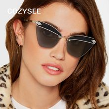 4f9e836820885 Ladies Classic diseño de marca Cat Eye Sunglasses Metal sol teñidas lentes  de espejo Vintage gafas de sol para las mujeres UV400.