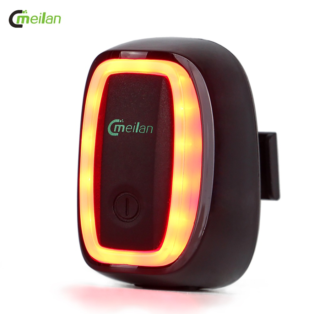 Meilan X6 Bicycle Light Tail Light Intelligent and Rechargeable Streamline Bike Rear Light
