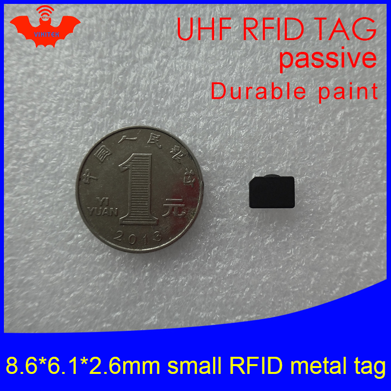 UHF RFID Anti-metal Tag 915mhz 868mhz Alien H3 8.6*6.1*2.6mm EPC Gen2 6C Very Small Durable Paint Smart Card Passive RFID Tags