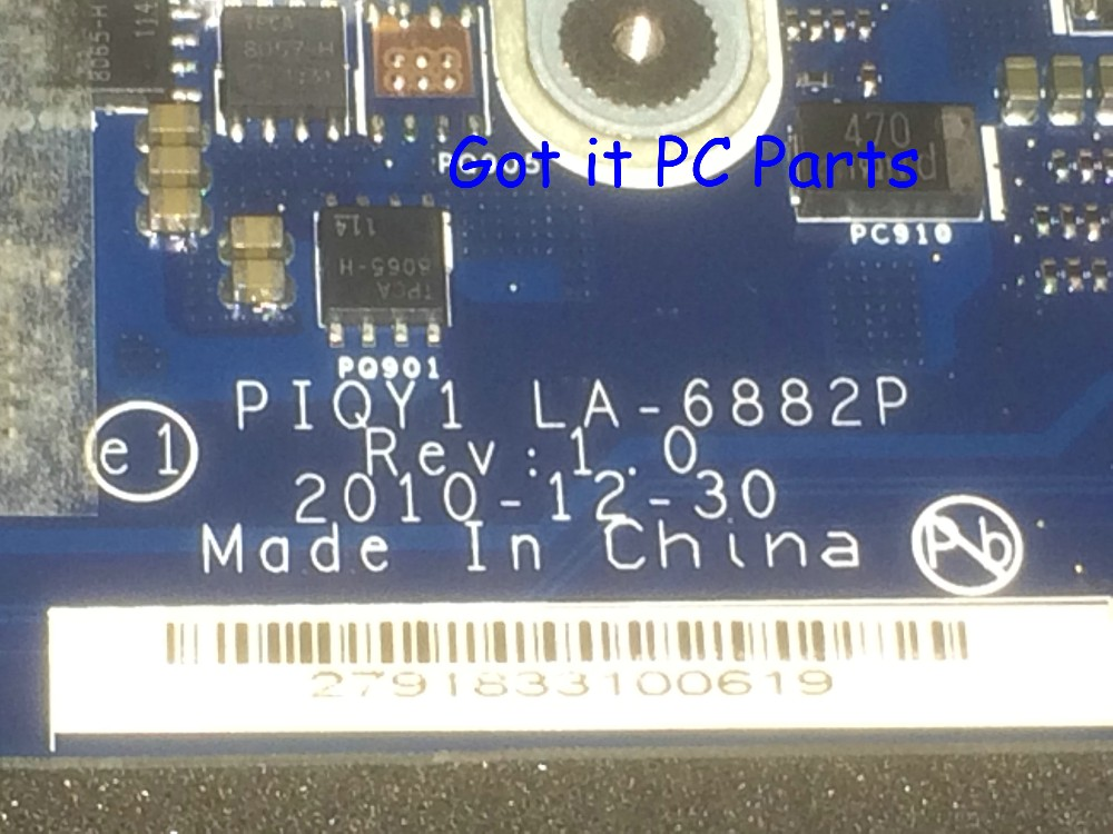 ORDER NEW + FREE SHIPPING  Laptop Motherboard PIQY1 LA-6882P REV : 1.0 for Lenovo Ideapad Y570 Notebook PC brand new for lenovo y570 laptop motherboard piqy1 la 6882p rev 2 0 main board with nvidia n12p gt1 a1 gpu
