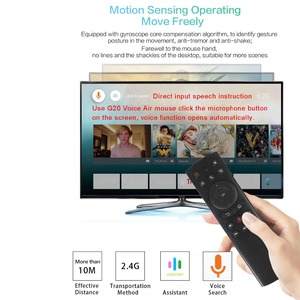 Image 4 - kebidu G20S Gyro Smart Voice Remote Control IR Learning 2.4G RF Mini Wireless Fly Air Mouse Keyboard G20 For Android TV Box