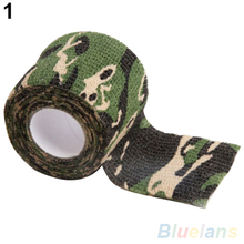 5CM X 4 5M Metre Camo Rifle Gun Hunting Camouflage Stealth Tape Outdoor 2MO7 3N2K cheap Adult Polyester 10457 Mastate