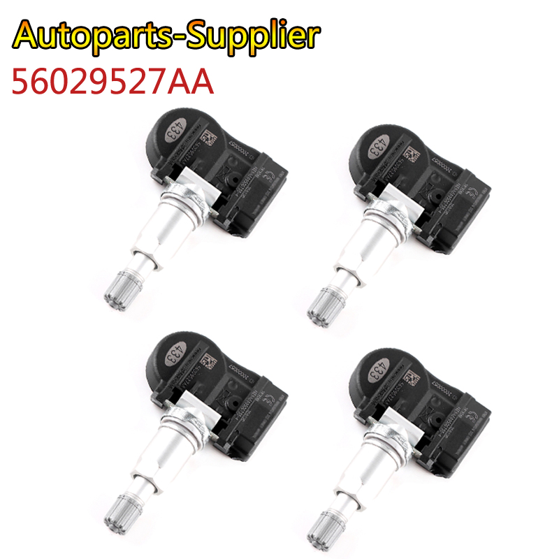 4 pcs 56029527AA  High quality 433MHZ TPMS Tire Pressure Sensors For Chrysler 200 300 Dodge Volkswagen