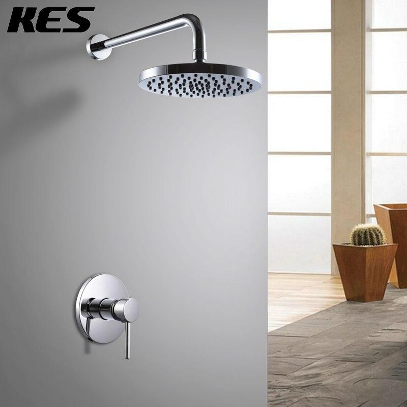 kes x6200 bathroom single handle shower trim valve body complete kit minimalist round polished chrome
