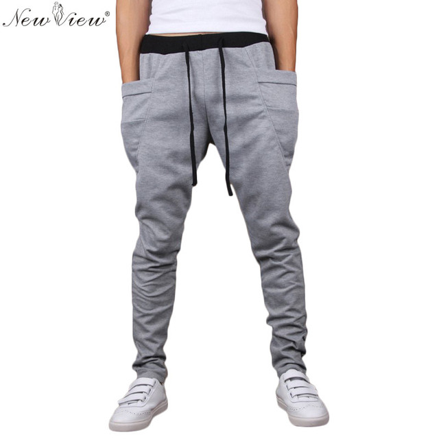 2017 Men Clothes Fashion Cotton Trouser For Male Harem Sweatpants Tracksuit Hip Hop Man Jogger Pants