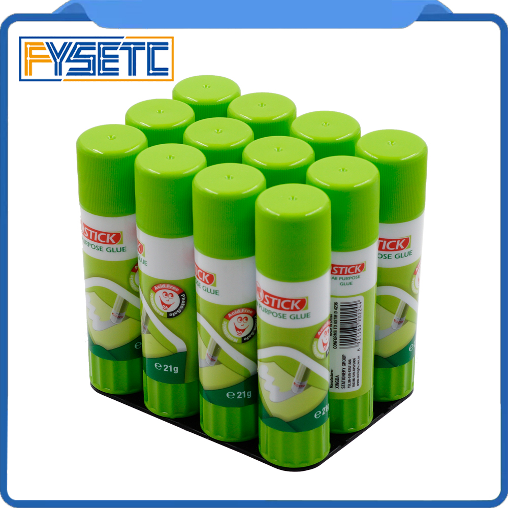 купить 1pack/12pcs 21g 24x98mm Special Non-toxic Washable Glue Stick For 3D Printer Hotbed Parts and Accessories по цене 1294.67 рублей