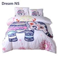 AHSNME Lovely Elephant Bedding Set Bohemian Mandala Duvet Cover Indian Tribal Comforter Cover Sets Adults Bedspread King Queen