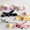 1 PC Cute Baby Kids Girl Print Dot Star Rabbit Ears Hairband Turban Bow Knot Headband Hair Band Accessories