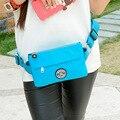 JINQIAOER Fanny Riñoneras Viajes Práctico Pochete 2016 Ocasional de Las Mujeres Pack Girls Color Del Caramelo de Pecho Paquetes de Cinturón Bolsa Bum bolsa