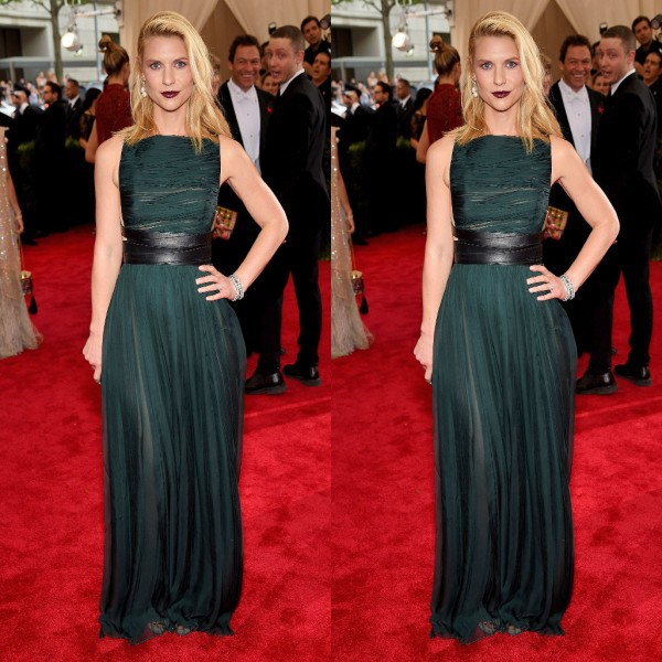 Met Gala Claire DanesRed Carpet Celebrity Prom Dresses Chiffon ...