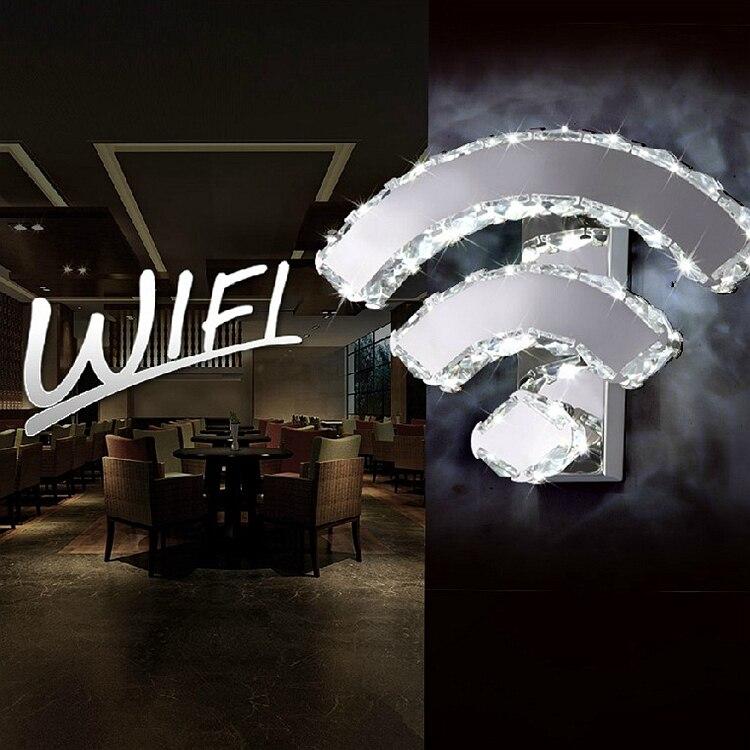 Ombre Brève Lampe Wifi De Lustre Mur Moderne Led Cristal AL3R54j