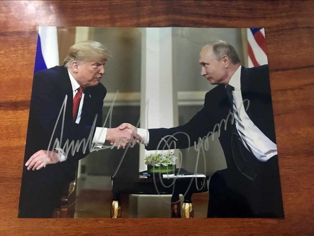 signed Donald Trump autographed original photo autographs 8 10 inches free shipping 092018