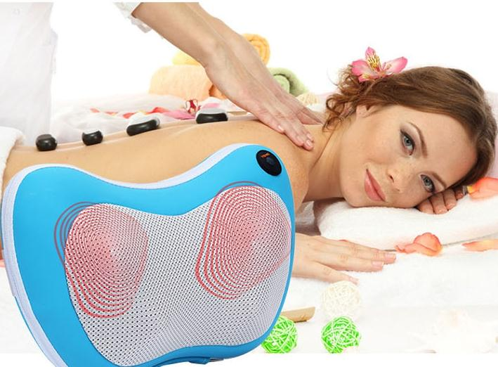 Car home neck massager neck lumbar back full-body massage pillow multifunctional massage cushion chair cushion home care car office home free neck head full body pillow lumbar shiatsu cushion massagers high quality