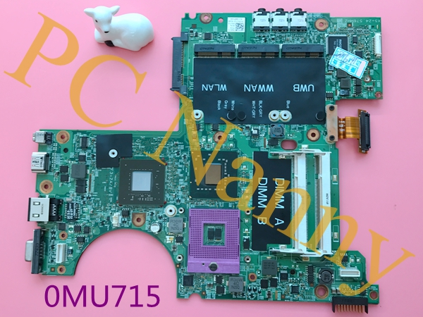 0MU715 MU715 For Dell XPS M1530 Series Intel CPU Motherboard PM965 DDR2