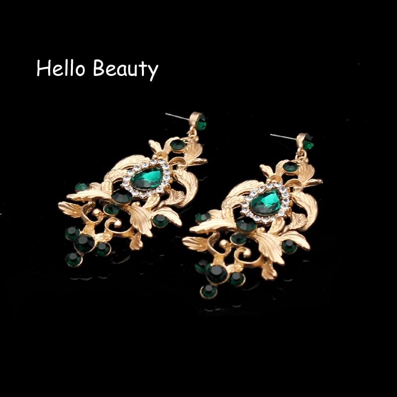 Μπαρόκ Vintage Πράσινη Rhinestone Princess Tiara και - Κοσμήματα μόδας - Φωτογραφία 5