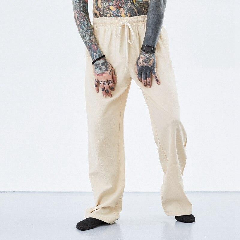 Image 3 - summer spring men vintage pants cotton plus size 7XL 8XL 9XL 10XL  casual home chinese japan style khaki Comfortable pants blue  -