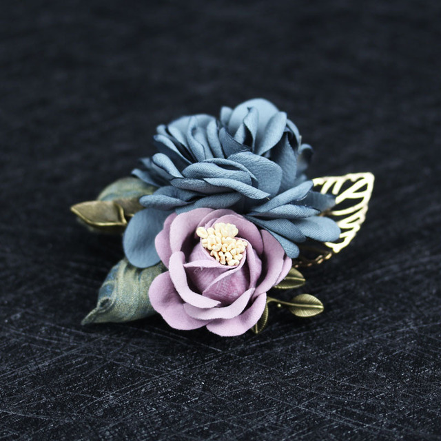 i-Remiel Top Ladies Fabric Flower Brooch for Women Scarves Coat Sweater Shawl Brooches Suit Corsage Collar Lapel Pin Accessories