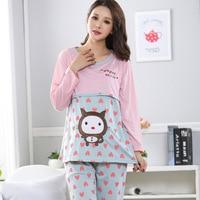 Large Size Autumn Winter Women S Home Service Post Natal Breast Feeding Pajamas Maternity Nursing Pajamas