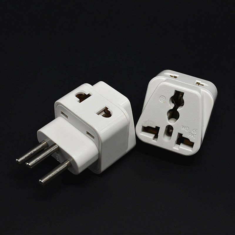 10pcs White Socket Splitter Uk Au Us Eu To Switzerland Ac Plug Travel Converter Adapter Household Plugs Adaptor