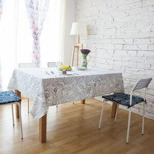 Image 3 - עלה בסגנון אירופאי מודפס מפת שולחן מלבני אוכל שולחן כיסוי Tafelkleed שולחן בד מסיבת חתונת בית מטבח דקור