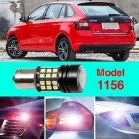 Error Free 1156 Socket 360 Degrees Projector Lens LED Backup Reverse light R5 Chips Replacement Bulb For Skoda Spaceback