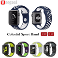 Sport Replacement Wristband Watch Band For iWatch Series 1&2 Silicone Rubber Wrist Strap Watchband For Apple Watch 38/42MM