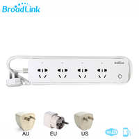 Original Broadlink MP1 Socket Plug Remote Control Separately Controllable WiFi 4 Outlet Power Strip For Smart