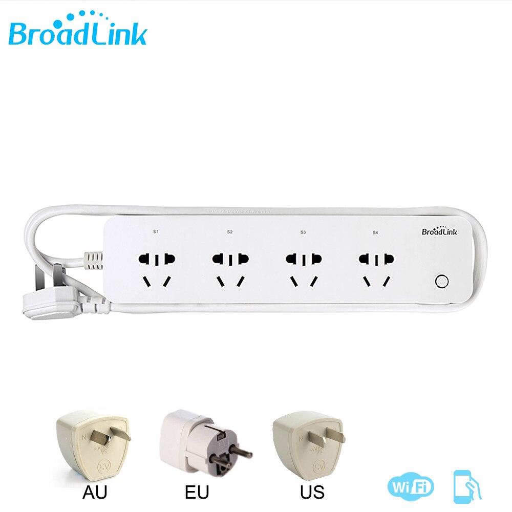 Tomada de Controle Remoto Broadlink MP1 Original Separadamente Controláveis WiFi 4-Faixa de Potência De Saída Para Smart Home Automation