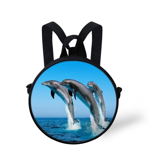Lindo animal shark dolphin imprimir libros de preescolar bebé niñas de kindergarten bolso de escuela para los niños pequeños para niños mochila mochila