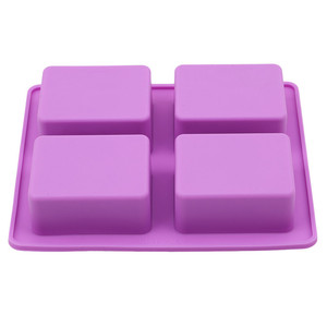 Image 5 - Party Dessert Silicone Mold Tree Shape 4 Hole Square Soap Mold Crafts Chocolate Cake Molding Handmade Tools