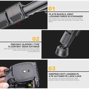 Image 5 - Zomei q111 전문 휴대용 경량 여행 알루미늄 카메라 삼각대 팬 헤드 스마트 폰 slr dslr 디지털 카메라