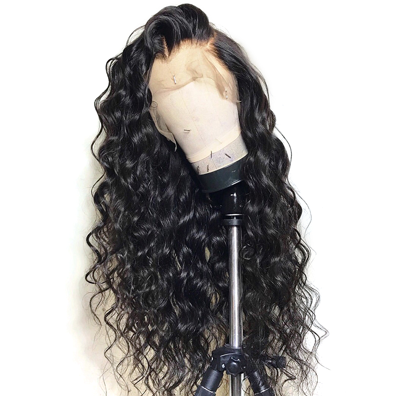 360 Lace Frontal Wig Pre Plucked With Baby Hair Brazilian Loose Wave Glueless Lace Front Human
