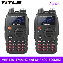 (2 PCS)Black KSUN protable radio UV-K4 Dual Band UHF VHF Two Way Radio walkie talkie