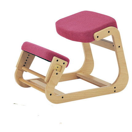 цена Ergonomically Designed Kneeling Chair Wood Modern Office Furniture Computer Chair Ergonomic Posture Knee Chair For Kids