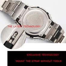 Watchband and bezel DW5600 GW5000 GW-M5610 metal strap bezel Stainless steel belt tools Case Frame