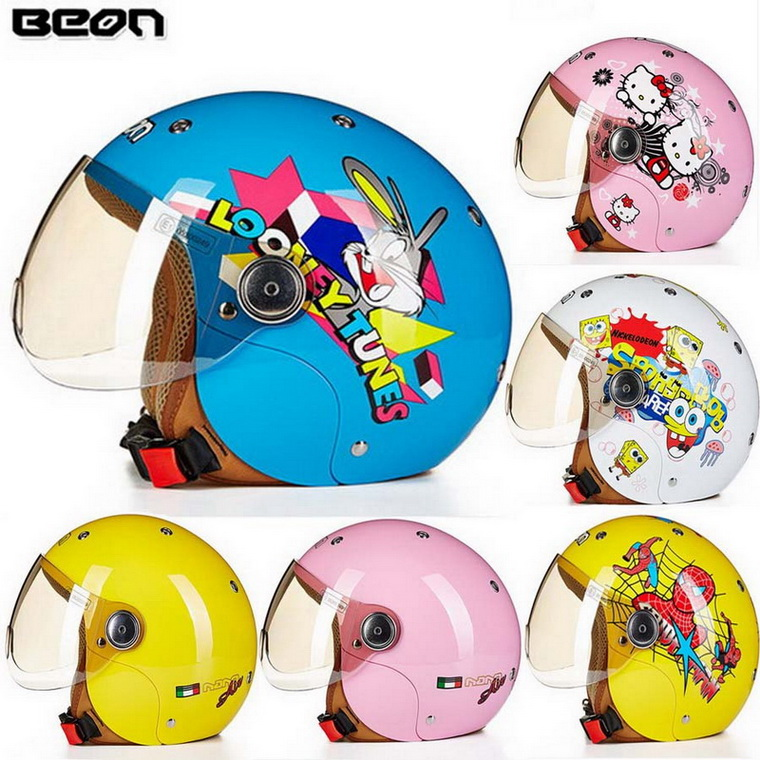 ФОТО 2016 New Netherlands BEON children half face motorcycle helmet child electric bicycle helmets of ABS B-103ETK drop FREE SIZE