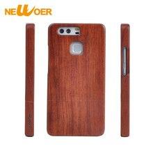 Для Huawei P9 Plus палисандр Орех Деревянный телефон Чехлы Handmade реального бамбука крышка newoer