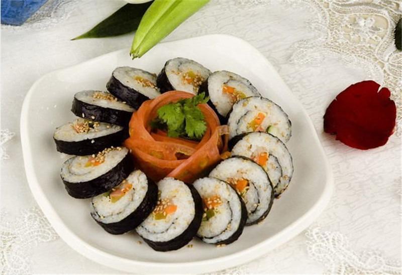 Портативная кухонная роллер для суши «сделай сам», приспособление для приготовления водорослей, нори, суши, занавесок-1