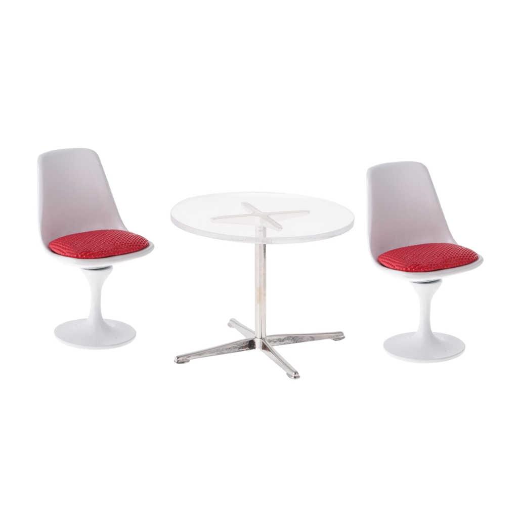 1/12 кукольный домик Миниатюрный белый тюльпан стул для поворотного кресла поворотный стул круглый стол столовая/гостиная аксессуары