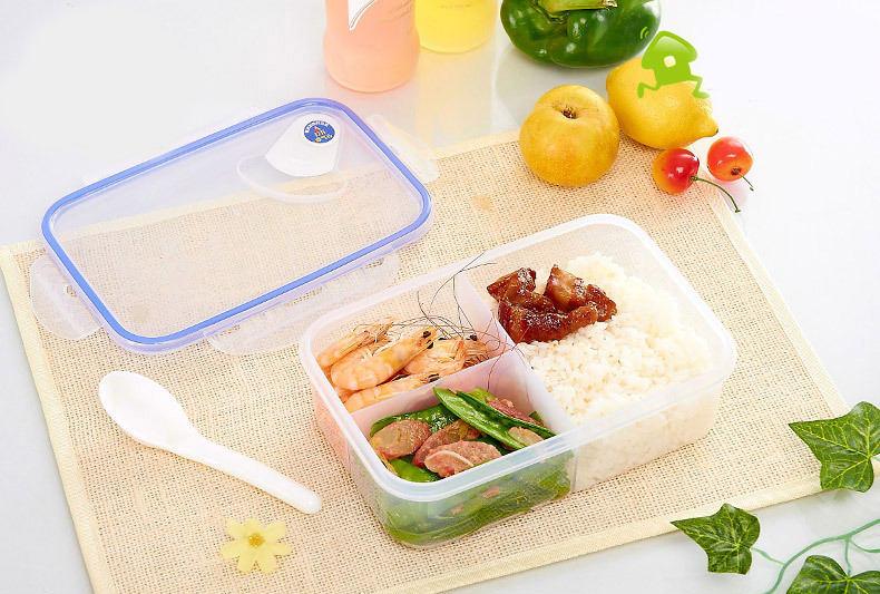 1100ml cute bento lunch box plastic lunch meal box tableware food container s. Black Bedroom Furniture Sets. Home Design Ideas