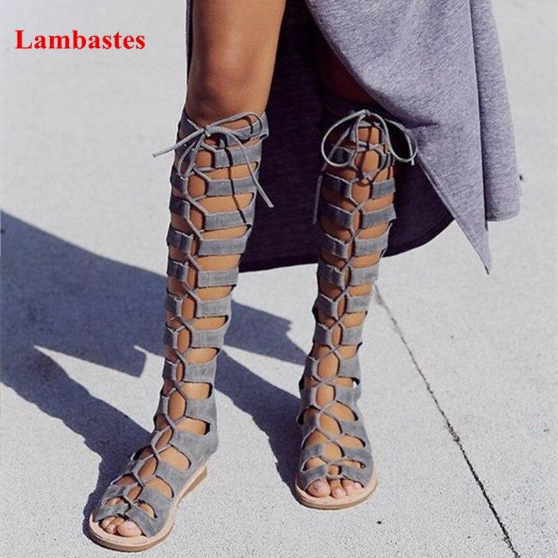 Bande étroite Dentelle Up Peep Toe Femmes Casual Découpes Sandales bride à la Cheville Zip Up Gladiateur Passerelle Sandales Sexy Casual Chaussures Plates